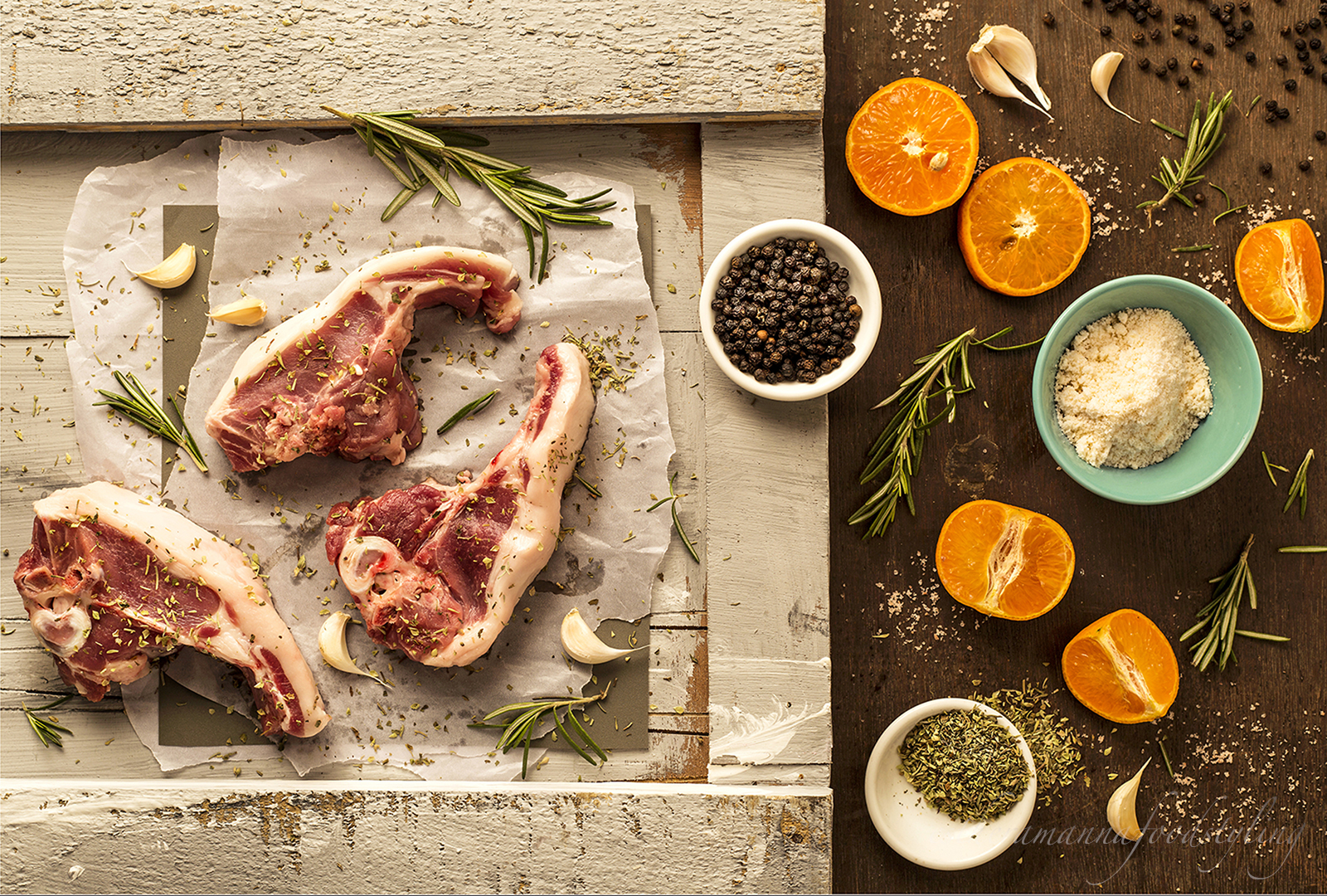 Meat with fresh ingredients,ready to be prepped,