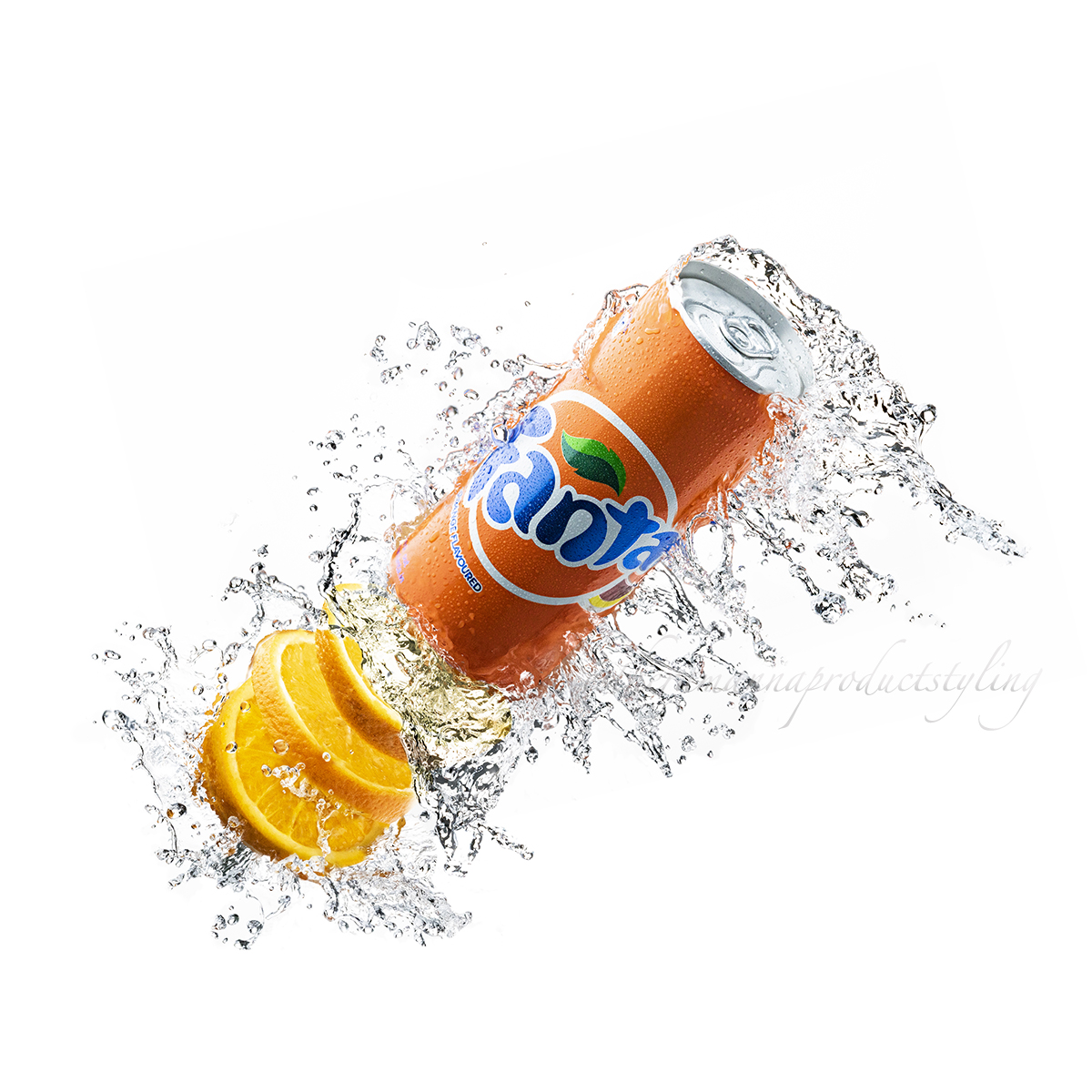 Fanta,cold drink,water droplets,special effects,foodstyling