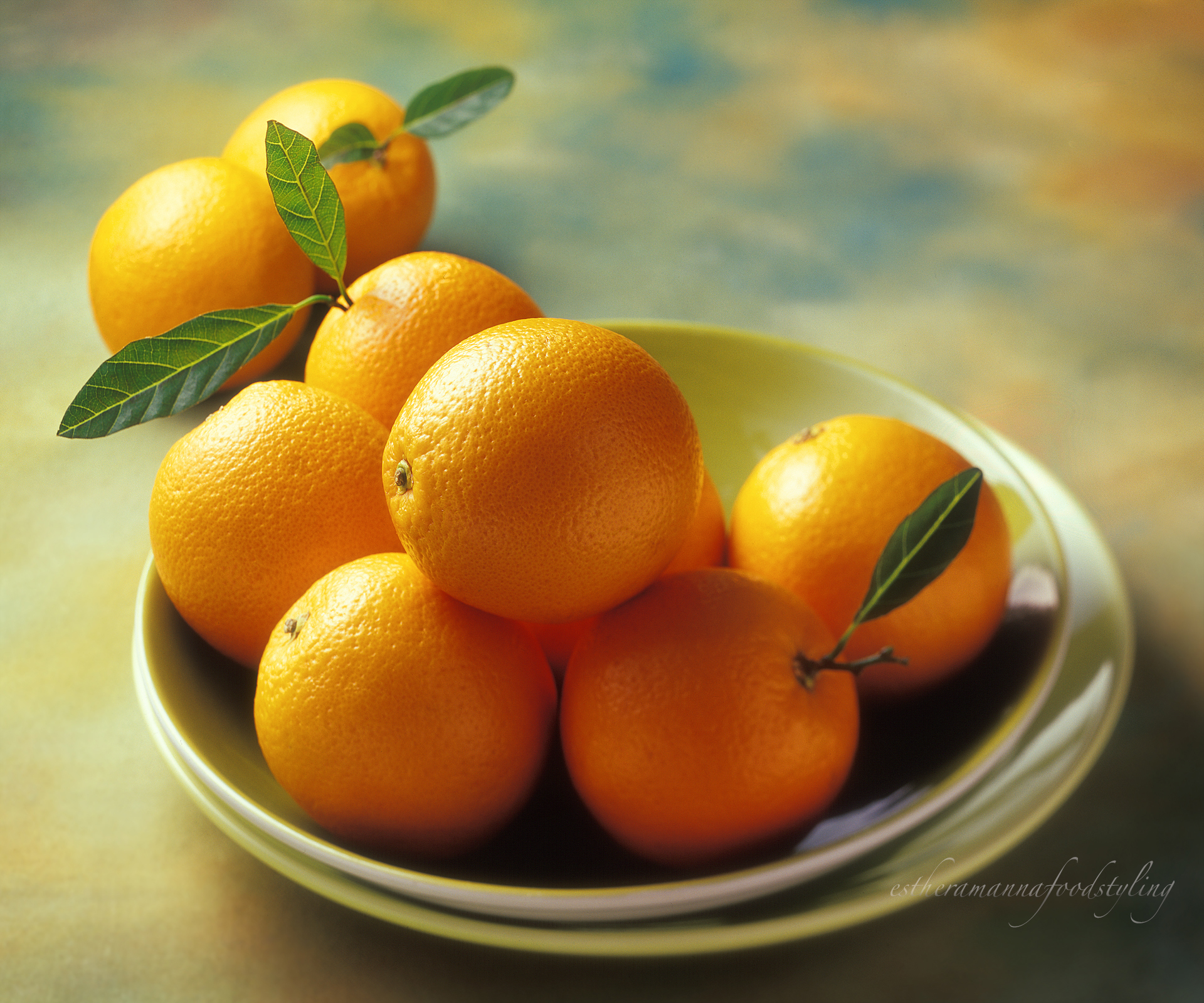 Fine art food styling by a food stylist with tangerines