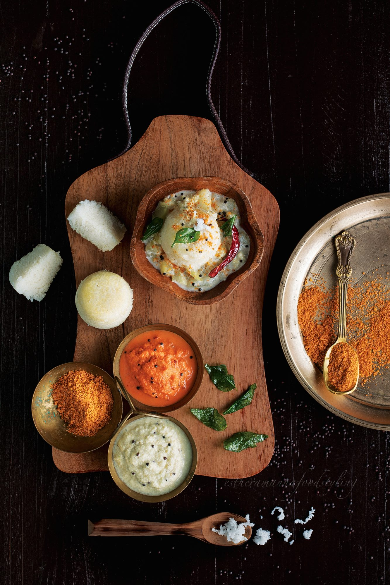 Indian cuisine,Idli, sambar and chutney,deconstructed food styling,foodstylist