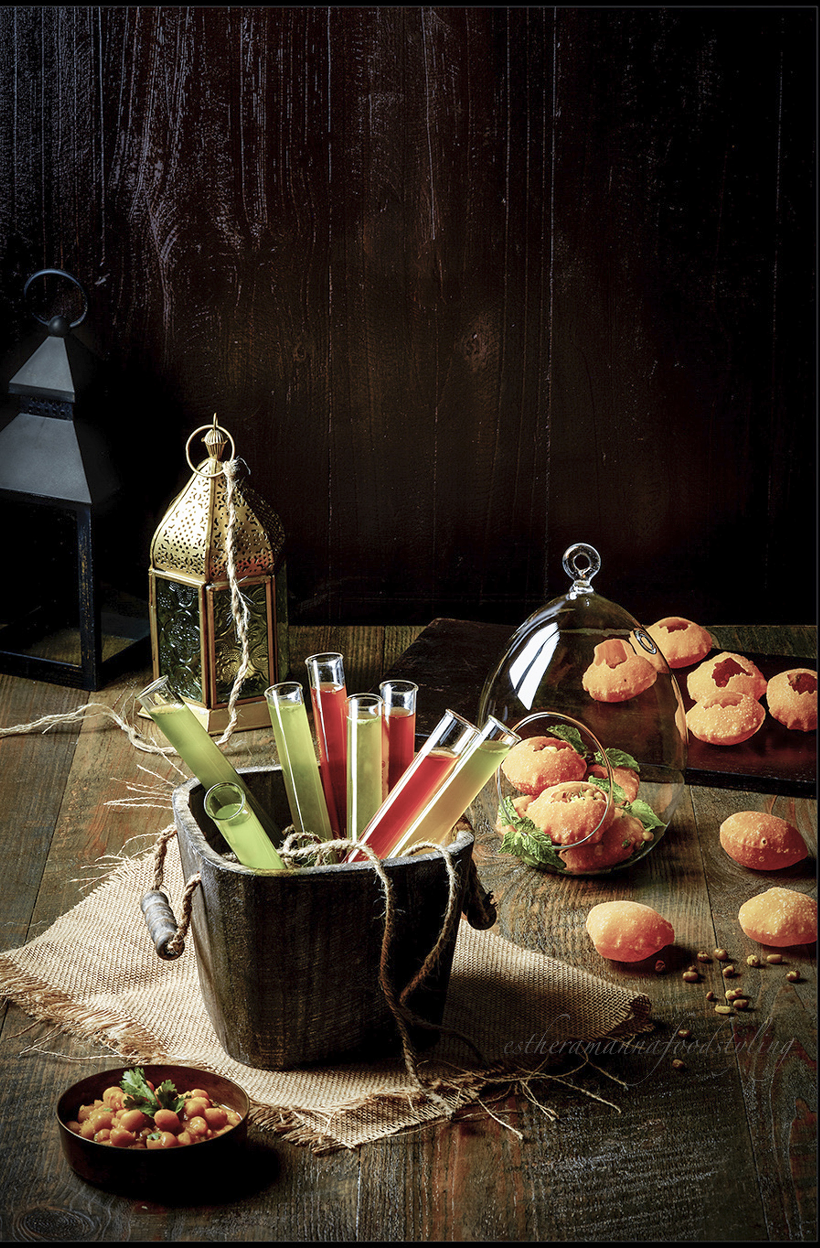 Indian snacks,Pani puri foodstyling, restaurant menu