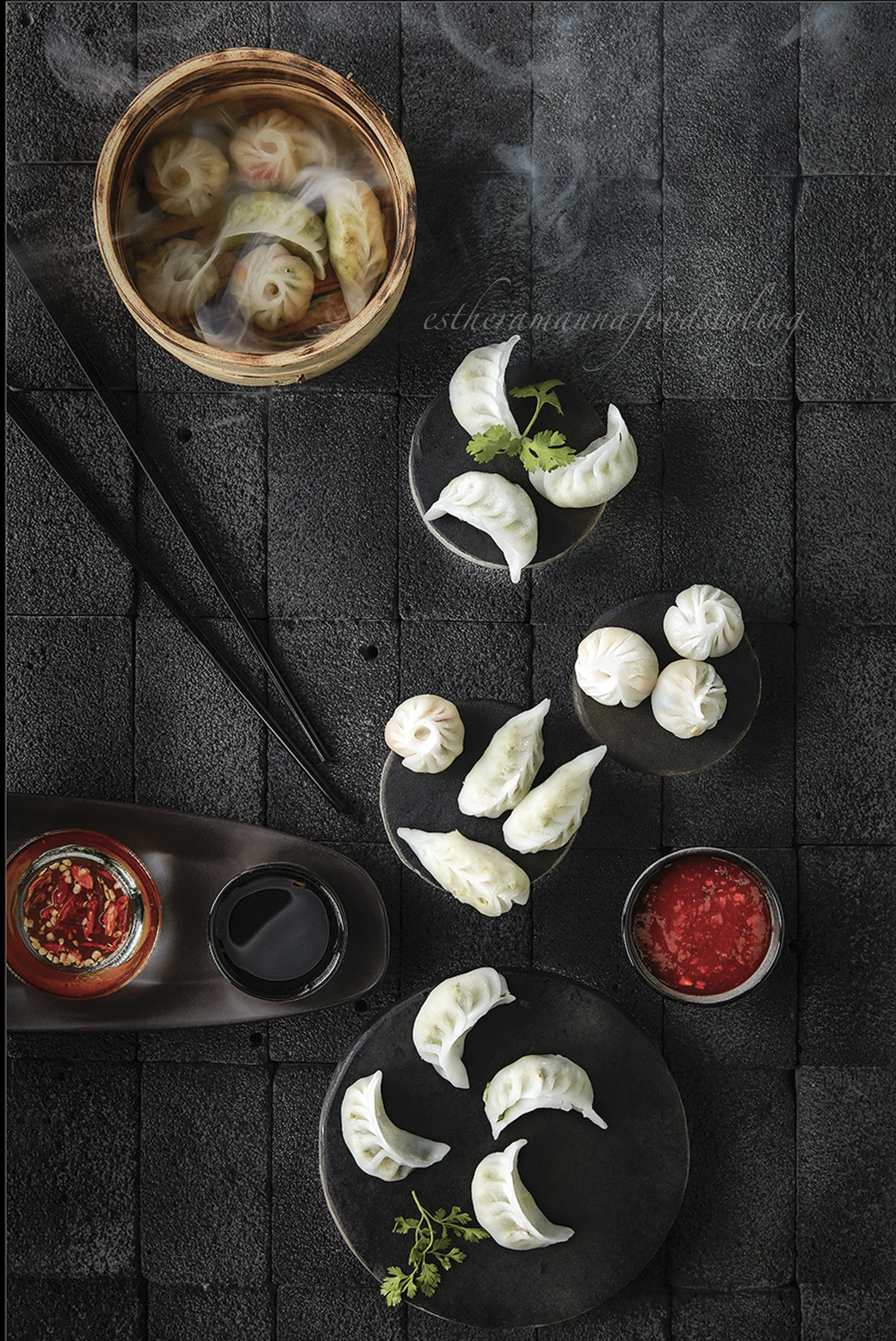 Sushi,Steam,Sauces and chutneys,Dimsums
