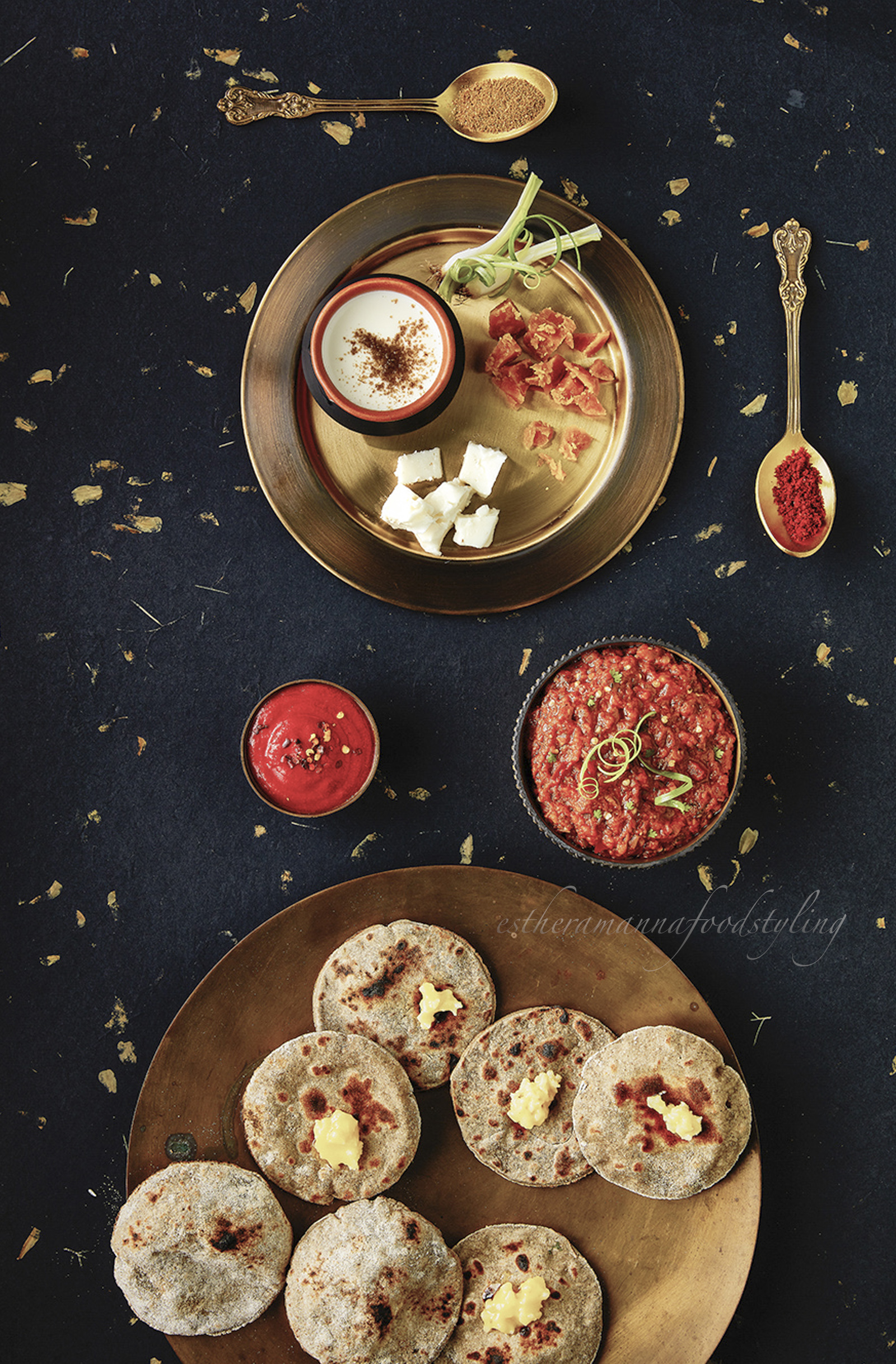 Destructured,Roti,Accompaniments,Foodstyling,Foodstylist