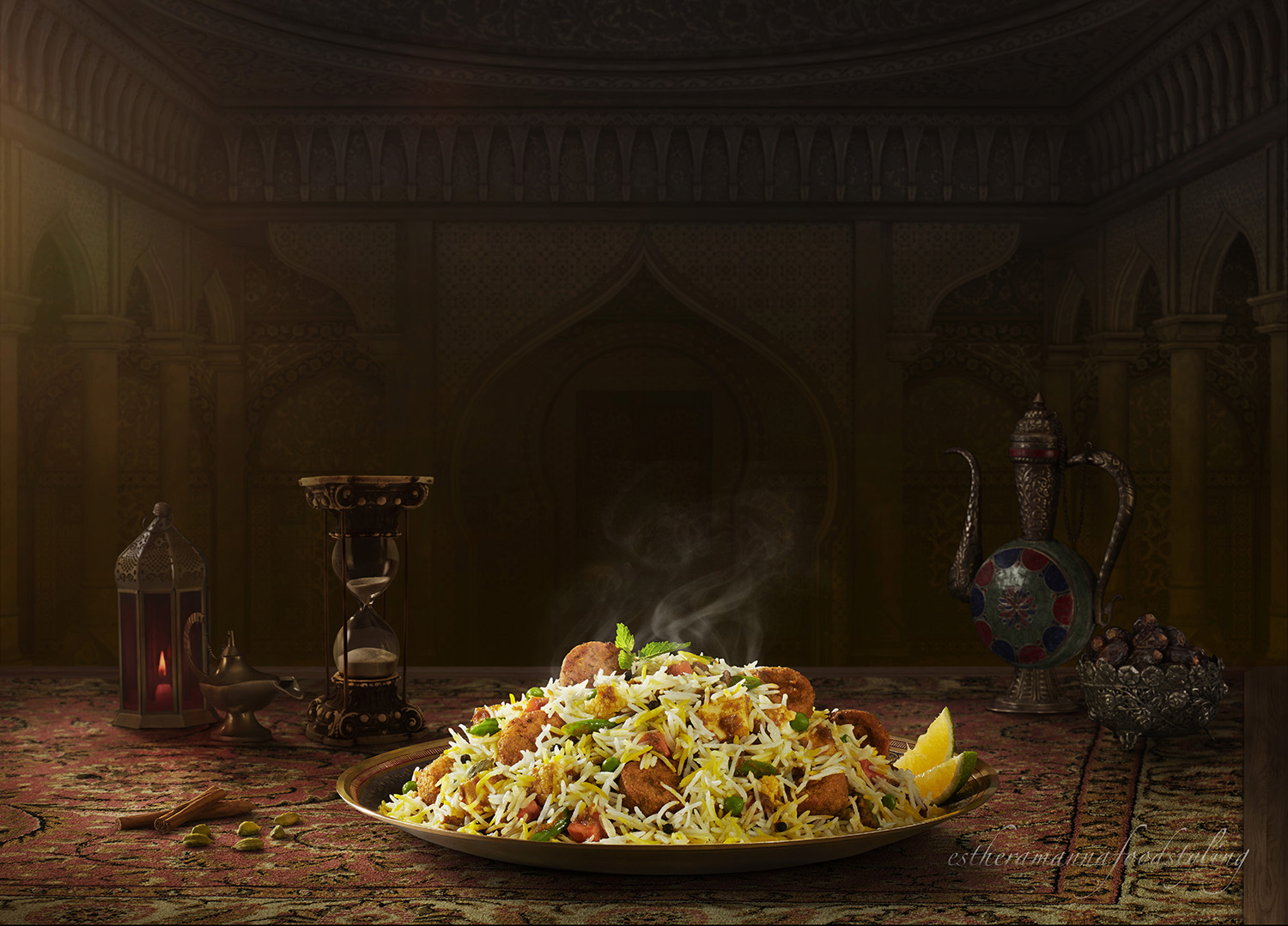 Behrouz biryani foodstyling for Biryani,with a Persian feel Foodstylist