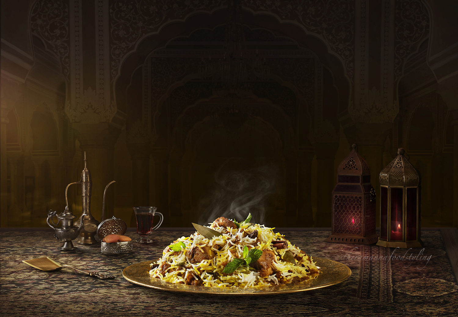 Foodstyling for Behrouz biryani,a leading biryani brand in India.Foodstylist