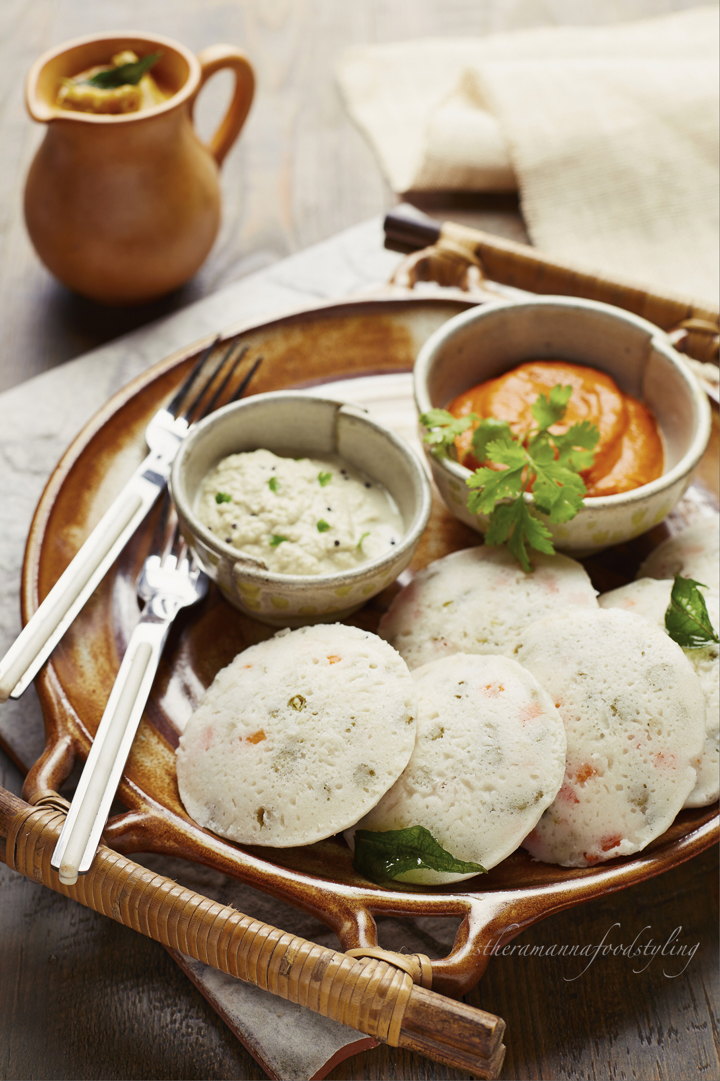 Indian breakfast,Foodstyling for the hotel The Lalit in India for Indian snacks,for the editorial.Foodstylist.