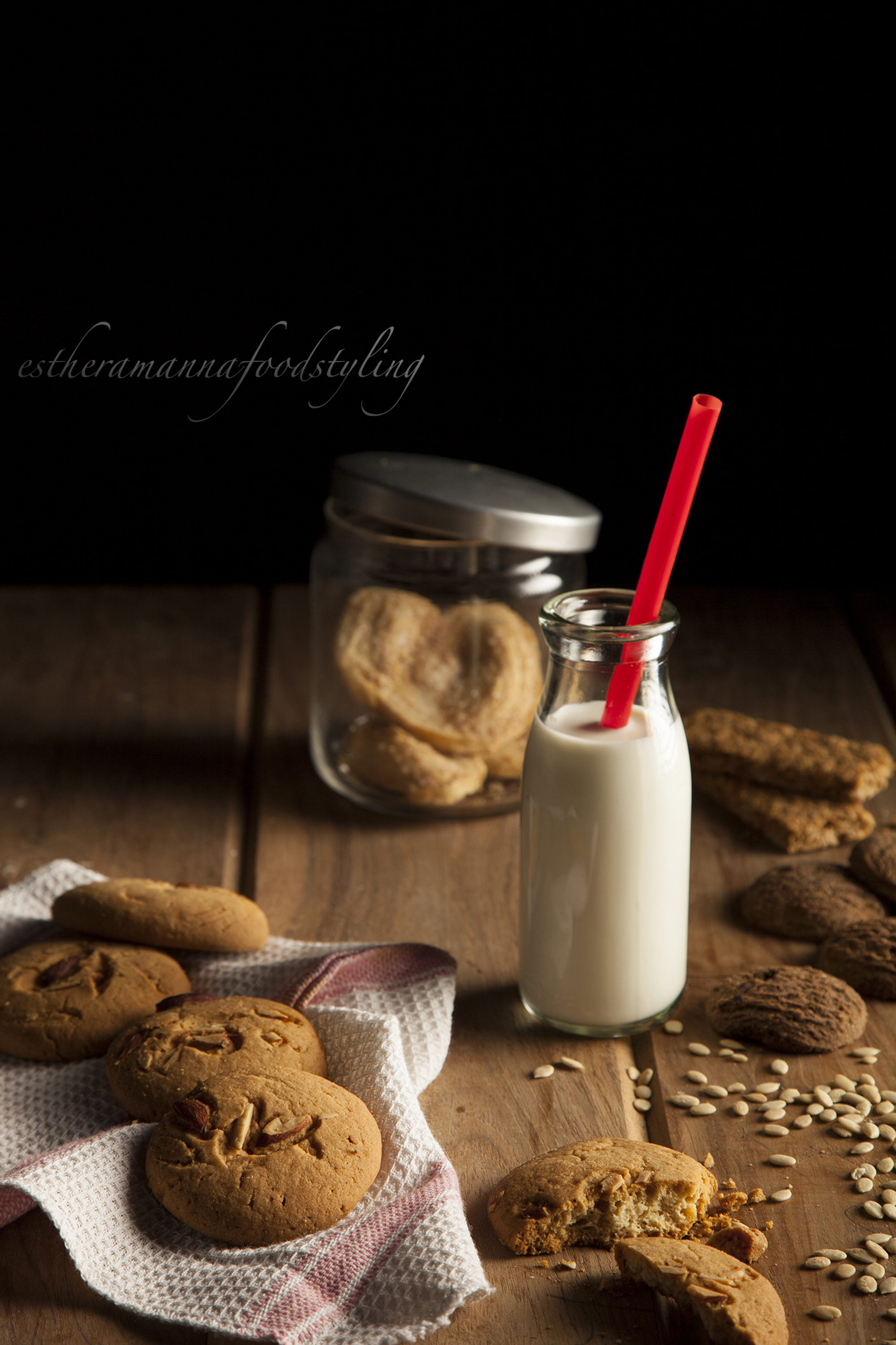 Cookies and milk,foodstyling
